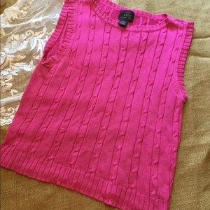 Pink silk sweater vest